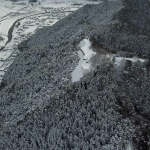 津和野城雪景色